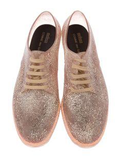 780112e827421 Comme des Garçons Rubber Round-Toe Oxfords w  Tags - Shoes - COM29861