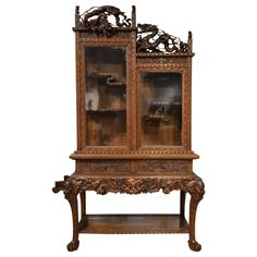 ~ Carved Cabinet on Stand Japanese Meiji Period ~ 1stdibs.com