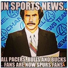 In sports news...the Spurs bandwagon grows