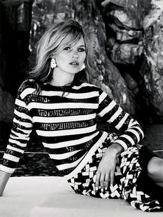 kate for vogue Patrick Demarchelier, Vogue Uk, Fashion Foto, Fashion Models, Vogue Cover, Looks Style, My Style, Kate Moss Style, Stephanie Seymour