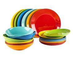 """Komplet 18 talerzy obiadowych """"Rainbow"""""""