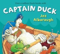 Captain Duck (Duck in the Truck) by Jez Alborough, http://www.amazon.com/dp/0007302908/ref=cm_sw_r_pi_dp_KsxVqb04RJVM3