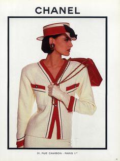 [Inès de La Fressange], [Chanel Haute Couture 1987]