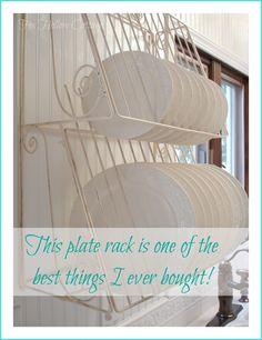 Plate Rack-My fav kitchen item :)  #homegoods