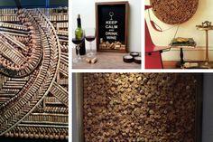 Decoração com rolhas de vinho: quadro criativo