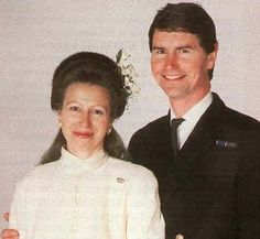 Wedding photograph of Anne, the Princess Royal and Rear Admiral Timothy Laurence in 1992.