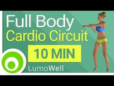 Full body cardio circuit: complete fat burning workout to lose weight (10 minutes) - YouTube