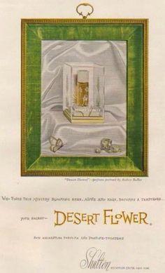 Vintage Desert Flower Perfume Ad