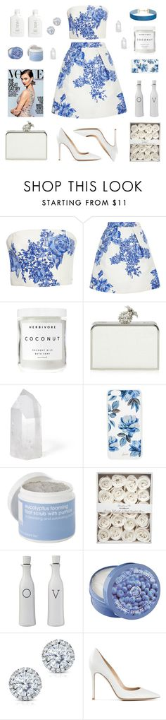 """willow"" by aidsrumbaua ❤ liked on Polyvore featuring Monique Lhuillier, Herbivore, Floozie by Frost French, Mapleton Drive, Sonix, Lather, Threshold, The Body Shop, Kobelli and Gianvito Rossi"