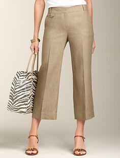 Linen Capri's from Talbot's  love the wide leg !