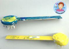 Afwasborstel knutselen met kleuters, thema huishouden, kleuteridee 3