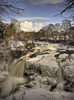 Bonnington Linn at the Falls of Clyde in New Lanark, Scotland.
