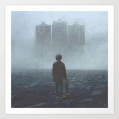 Boy and the Giants Art Print by yurishwedoff - $17.68