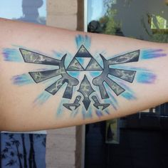 25 Mighty Triforce Tattoo Designs & Meaning - Discover The Golden Power