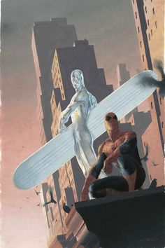 Silver Surfer & Spider-Man by Esad Ribic