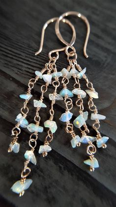Opal And Rose Gold Earrings Real Raw Opal Opal Earrings