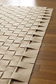 Weiteres - Filz - Teppich geflochten - ein Designerstück von TS-Spezialmanufaktur bei DaWanda Shops, Designer, Etsy, Contemporary, Rugs, Home Decor, Felting, Living Room, Homes