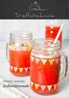 Gerade richtig, um den Durst nach dem Sommer zu löschen: Erdbeerlimonade mit Ingwer und Minze.