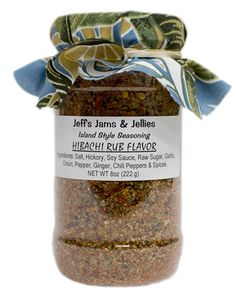 JEFF'S JAMS AND JELLIES - HIBACHI RUB - 8oz