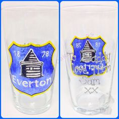 Everton Father's Day pint glass x