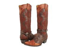 New in Box Womens Boots Old Gringo INESE L1000-3 Chocolate Size 7 Retail $625