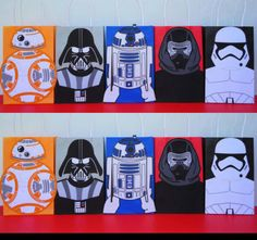 Printable Star Wars R2D2/ BB8/ Stormtrooper Darth Vader/ Kylo Ren----Favor Bags Perfect Goodie/ Candy bags for the kids on your next Party!! Purchase all these 5 bag template for just $8 @ my Etsy Shop!! And print as many as you need! ☺ Star wars birthday party. Fiesta Star Wars. Star wars party ideas. Star Wars costume. Star wars cake/ cupcakes. Star wars labels. Star wars toys. Star wars collection. Star wars banner/ backdrop