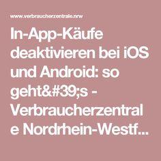 In-App-Käufe deaktivieren bei iOS und Android: so geht's - Verbraucherzentrale Nordrhein-Westfalen
