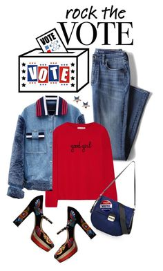 """Rock the Vote in Style"" by shortyluv718 ❤ liked on Polyvore featuring Lands' End, Jamie Wei Huang, Chinti and Parker, Valentino, Furla and rockthevote"
