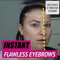 Adjustable Instant Eyebrow Stamp - - Adjustable Instant Eyebrow Stamp Zukünftige Projekte This upgraded Amazing Brow Stamp has an adjustable arch that will get your brows on point instantly! Stamp and you are good to go! Eyebrow Stamp, Eyebrow Makeup, Beauty Makeup, Diy Beauty, Beauty Care, Beauty Skin, Face Beauty, Homemade Beauty, Beauty Guide