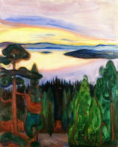 Edvard Munch (Norv. 1863-1944), View from Nordstrand, 1900-1901, huile sur toile, collection privée                                                                                                                                                      Plus