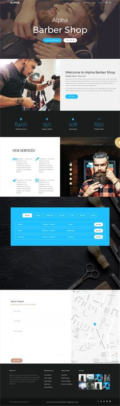 Alpha dot is awesome multipurpose responsive #WordPress theme for #salon #barbershop website with 18+ niche homepage layouts, 75+ pages & 20+ widgets download now..