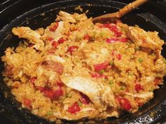 Paella uit de slowcooker - One Hand in my Pocket Paella, Healthy Crockpot Recipes, Sous Vide, Fried Rice, Bbq, Snacks, Ethnic Recipes, Crock Pot, Food