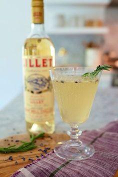 Bottoms Up :: Lavender Lillet Cocktail