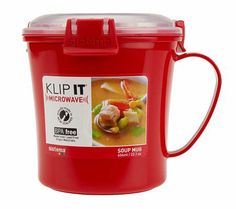 Sistema Set of 4 Klip It Microwave Soup Mugs — QVC.com