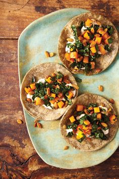 Butternut Squash, Kale, and Pepitas Tacos