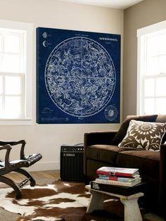 Celestial Blueprint Loft Art by Sue Schlabach at Art.com