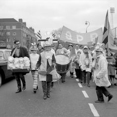 QPR fans on their way to Wembley for the 1967 Football League Cup final