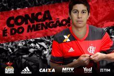 "Fla anuncia Conca, lembra foto com Guerrero e brinca: ""Só falta o Mickey"" #globoesporte"