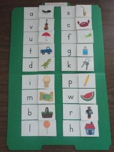 Beginning Letter Sounds – Lowercase Letters file folder game