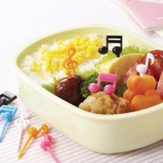 add music notes to your bento -- whoops, forgot to get these last order