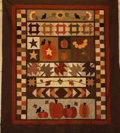 #Pumpkins A Month Block a Month Join Here #quilt #autumn