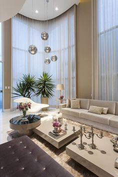 Decor Salteado - Blog de Decoração e Arquitetura : Salas de estar, tv e jantar integradas - maravilhosas! Confira todos os detalhes!