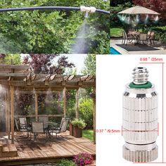 "Misting Spray Nozzle 1/8"",3/16"" Brass Garden Fogging Water Sprayer Nozzle Sprinklers Misting System aspersor para irrigacao"
