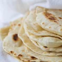 Homemade Flour Tortillas Recipe Breads with all-purpose flour, salt, baking powder, vegetable oil, warm water