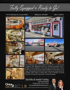 #NEWLISTING  Well established, high volume breakfast & lunch cafe w/ a solid clientele of regulars. Fully equipped & ready to go. All kitchen equipment, ($30k+) (Fridges, freezers, deep fryer, stoves, grills & more) tables, chairs, fixtures & decor go w/ the sale & are in great condition. No leases/loans on any equip. All equipment & fixtures have been meticulously maintained & are incredibly clean. Owner is retiring after 9 years of building successful Downtown Everett cafe. Easy access w…