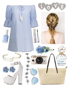 """""""☀️🏙"""" by madame-taylor ❤ liked on Polyvore featuring Matthew Williamson, Accessorize, Essie, Marc Jacobs and tarte"""