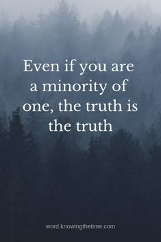 Even if you are a minority of one, the truth remains the truth. Prayer Quotes, Truth Quotes, Bible Quotes, Motivational Quotes, Uplifting Christian Quotes, Bible Encouragement, Christian Inspiration, Christian Faith, Inspiring Quotes