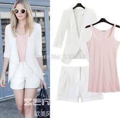 3pcs-set-Linen-suit-women-half-sleeve-blazer-cotton-vest-and-shorts-casual-suit-2014-womens.jpg (725×714)