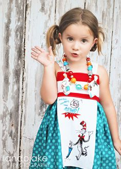 Dr Seuss Knot Petal Dress by Imbornagain on Etsy, $44.99  This is such a precious picture