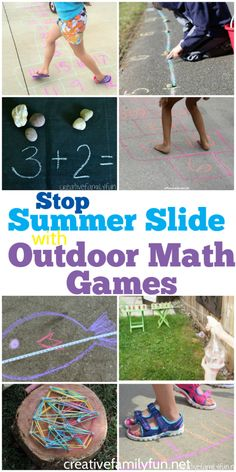 Learn and play this summer with these awesome games to play -all about math- for fun in the sun!